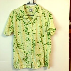 Columbia Shirt, Button-Up, Lg, Floral Pattern